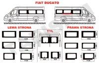 Szyby Fiat Ducato długi