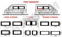 Szyby Fiat Ducato krótki