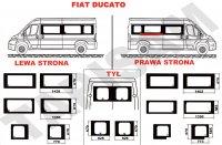 Szyby Fiat Ducato średni
